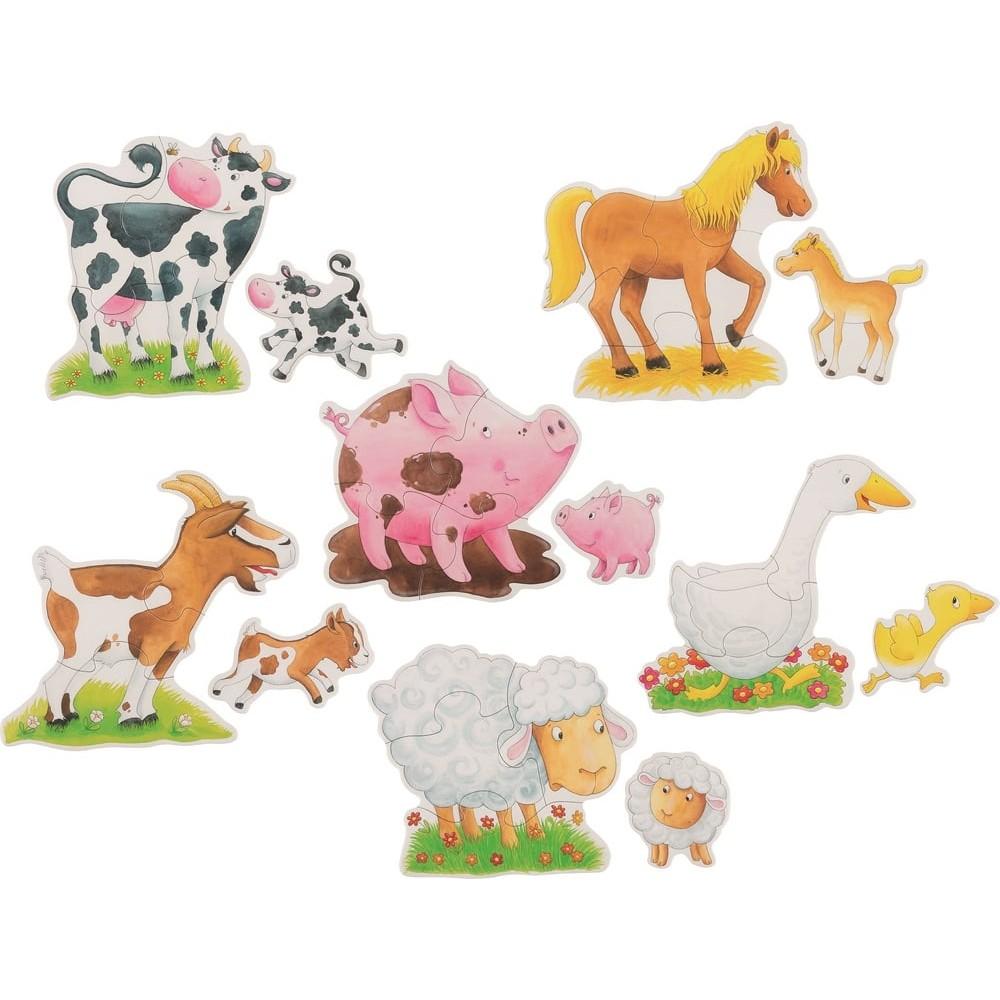 Puzzle en carton - Bienvenue à la ferme