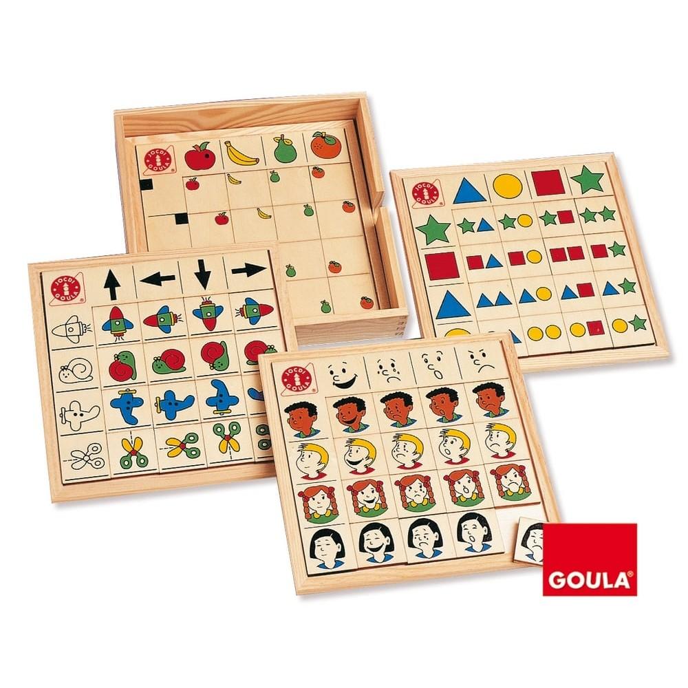 Positions, directions, expressions et formes - Jeux de raisonnement logique en bois