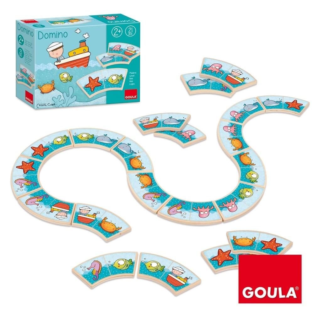 Jeu de domino en bois - Serpent de mer