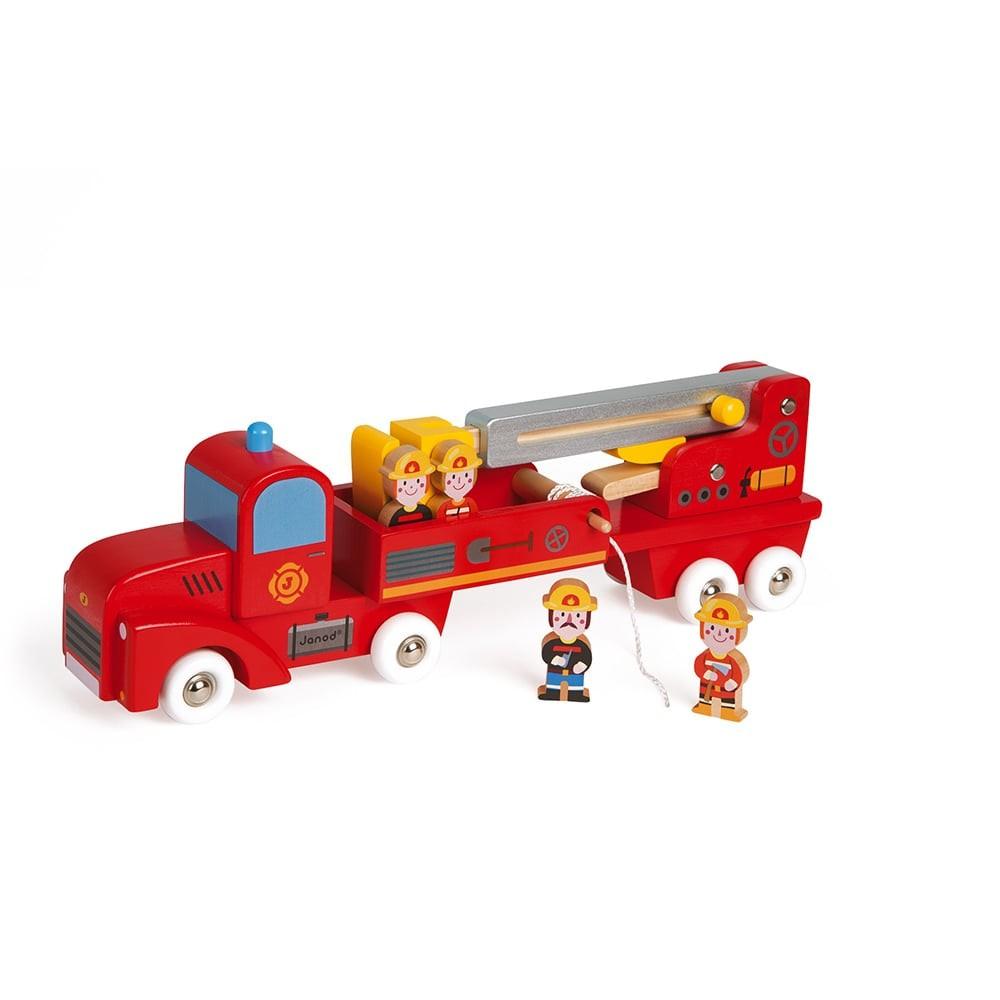 Story - Camion de pompiers géant en bois