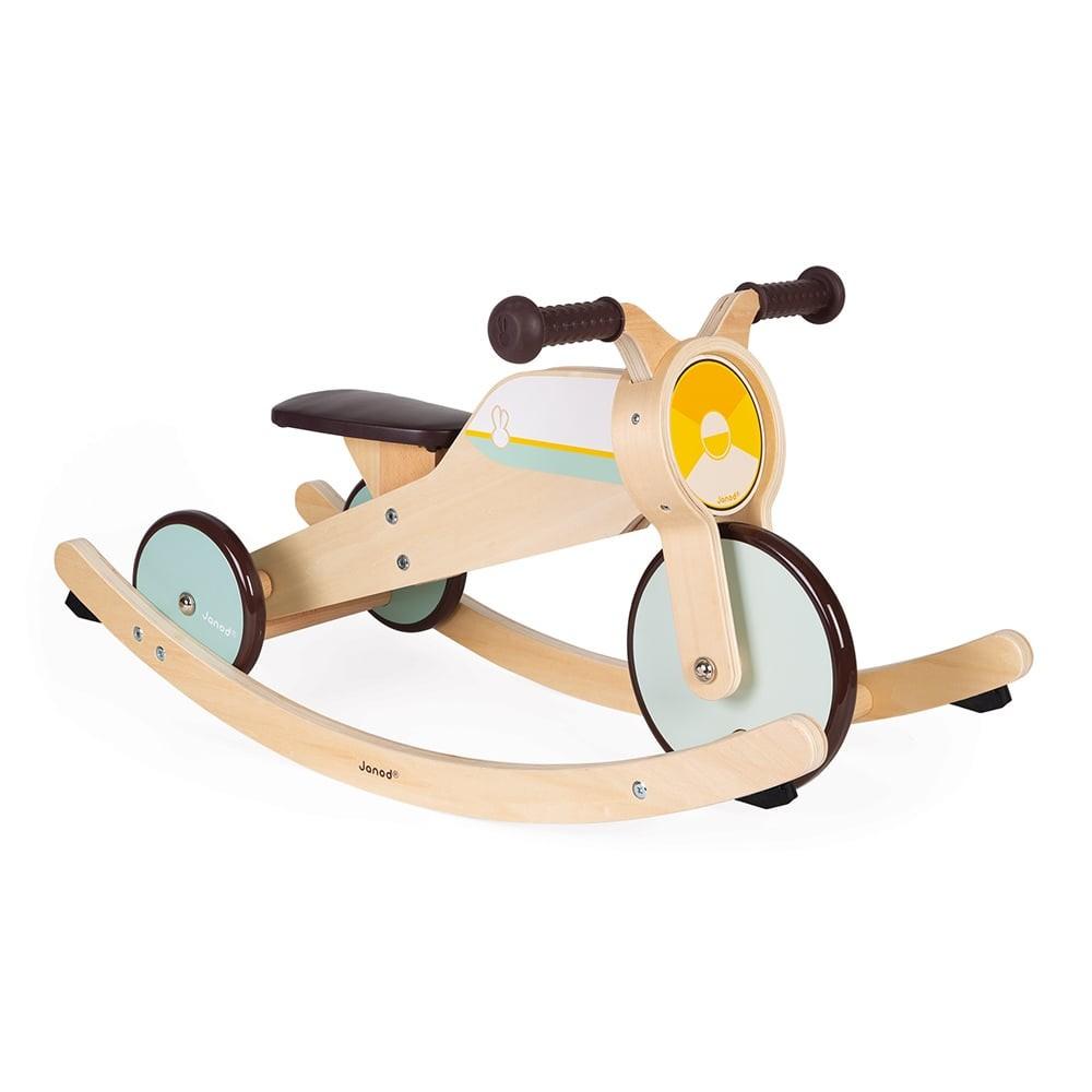Tricycle 2 en 1 à bascule en bois