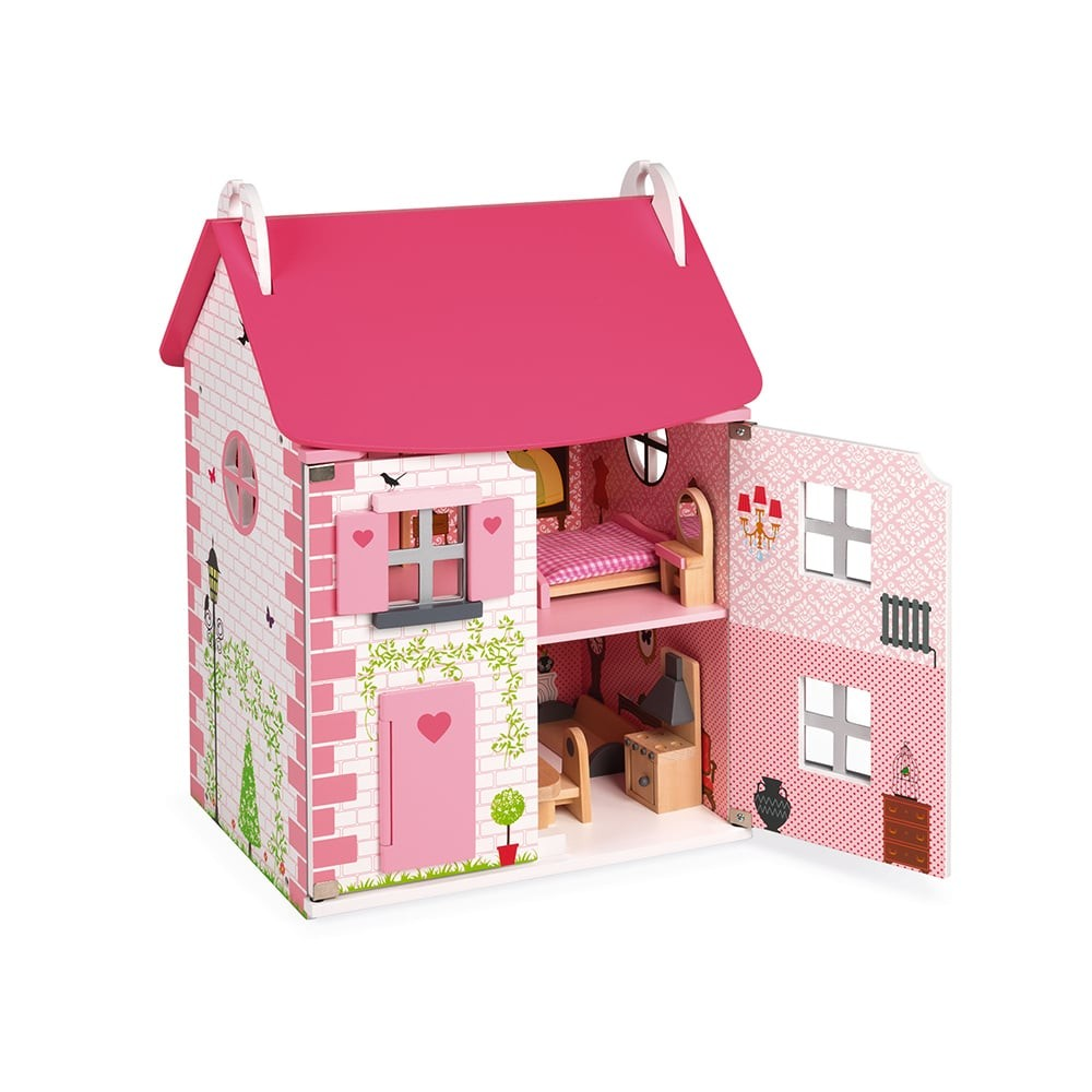 Maison de poupées en bois - Mademoiselle