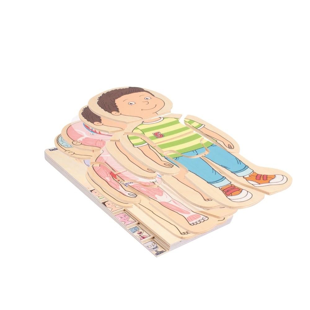 Puzzle éducatif en bois - A la découverte du corps humain